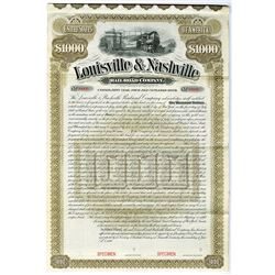 Louisville & Nashville Rail Road Co., 1890 Specimen Bond