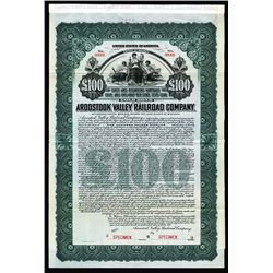 Aroostook Valley Railroad Co., 1911 Specimen bond.