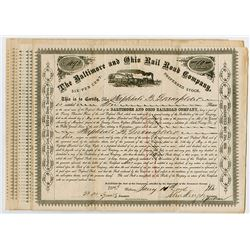 Baltimore & Ohio Railroad Co. 1876 Lot of 15, 6% Preferred Share Certificates
