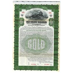 Old Colony Railroad Co., 1925 Specimen Bond