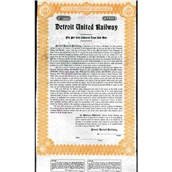 Detroit United Railway, 1910 Specimen Bond Used as a Model.
