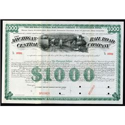Michigan Central Rail Road Co. ca.1890-1899 Specimen Bond
