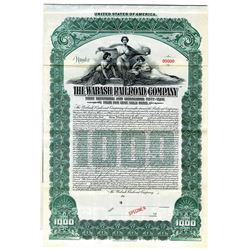 Wabash Railroad Co., 1906 Specimen Bond