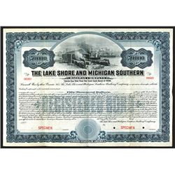 Lake Shore & Michigan Southern Railway Co. 1906 Specimen Bond.