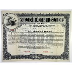 St. Louis, Iron Mountain and Southern Railway Co. 1903 Specimen Bond Rarity