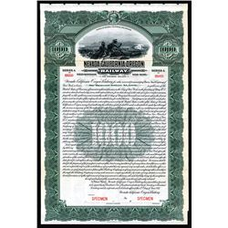 Nevada-California-Oregon Railway, 1917 Specimen Bond