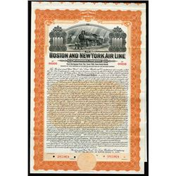 Boston and New York Air Line Railroad Co. 1905 Specimen Bond