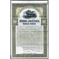 Morris and Essex Railroad Co., 1900, $1000 Specimen Bond.