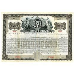 Erie Railroad Co., 1903 Specimen Registered Bond