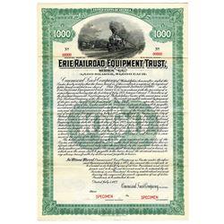 Erie Railroad Equipment Trust, 1922 Specimen Bond