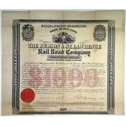 Hudson & St.Lawrence Rail Road Co. 1873 I/U Bond