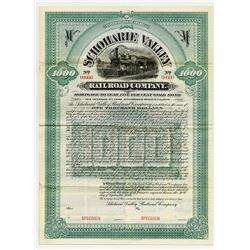 Schoharie Valley Railroad Co., 1899 Specimen Bond