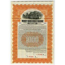 Twenty-Third Street Railway Co., 1912 Specimen Bond