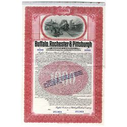 Buffalo, Rochester and Pittsburgh Railway Co., 1907 Specimen Bond