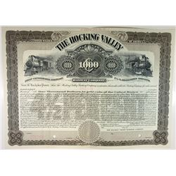 Hocking Valley Railway Co., 1900s Specimen Bond