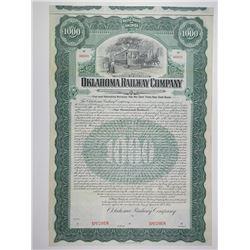 Oklahoma Railway Co. 1907 Specimen Bond.