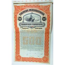 Eastern Pennsylvania Railways Co., 1906 Specimen Bond