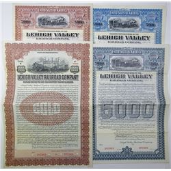 Lehigh Valley Railroad Co., 1902-1906 Group of Specimen Bonds