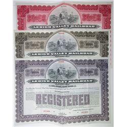 Lehigh Valley Railroad Co., 1903 Trio of Specimen Bonds