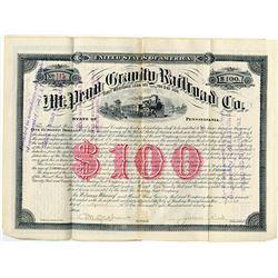 Mt. Penn Gravity Railroad Co., 1891 I/U Coupon Bond.