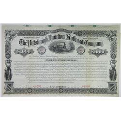 Pittsburgh Junction Railroad Co., 1882 Specimen Bond Rarity.