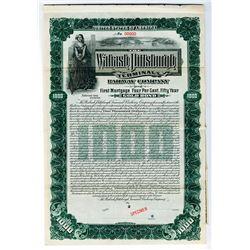 Wabash Pittsburgh Terminal Railway Co., 1904 $1000 Specimen Bond