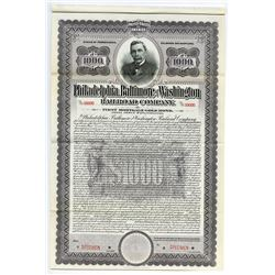 Philadelphia, Baltimore, and Washington Railroad Co., 1917 Specimen Bond