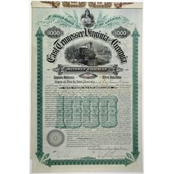 East Tennessee, Virginia &  Georgia Railway Co. 1890 Bond