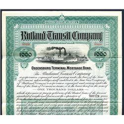 Rutland Transit Co. 1901. Specimen Bond.