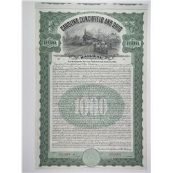 Carolina Clinchfield and Ohio Railway Co. 1908 Specimen Bond