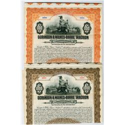 Scranton and Wilkes-Barre Traction Corp. 1913 Specimen Bond Pair