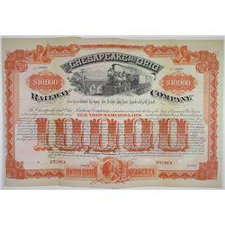 Chesapeake and Ohio Railway Co. 1889 Specimen Registered Bond