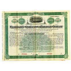 Washington and Georgetown Railroad Co., 1893 Specimen Bond