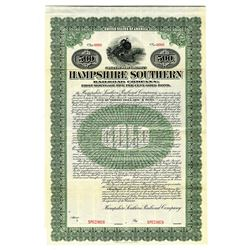 Hampshire Southern Railroad Co., 1909 Specimen Bond