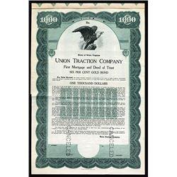 Union Traction Co., 1920 Specimen Bond