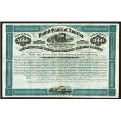 "Milwaukee, Lake Shore and Western Railway Co., 1879 ""Northern Division"" Specimen Bond."