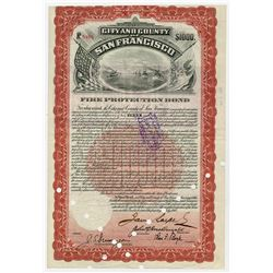"City and County of San Francisco, 1908  (Issued 1912) I/C ""Fire Protection"" Bond."