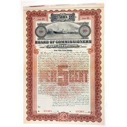 Board of Commissioners of the Port of New Orleans, 1904 Specimen Bond