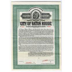 City of Baton Rouge, 1914 Specimen Bond