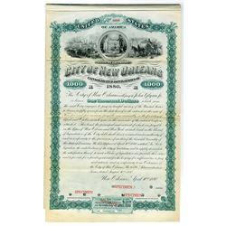 City of New Orleans, 1880 Specimen Bond.