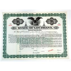 State of Louisiana, 1914 Specimen Bond
