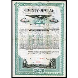 County of Clay, 1888 Specimen Bond