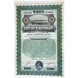City of Cincinnati, 1906 Specimen Bond