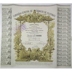 Compania General De Tobacos De Filipinas 1963 I/C Bond.