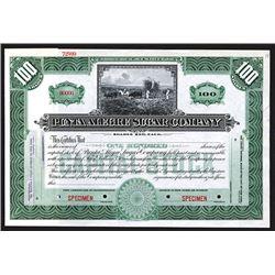 Punta Alegre Sugar Co., ca. 1900 Specimen Stock Certificate.