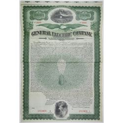 General Electric Co. 1912 Specimen Bond Rarity