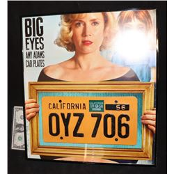 BIG EYES CAR LICENSE PLATE SCREEN MATCED NICELY FRAMED