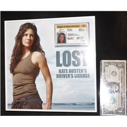 LOST MONICA RYAN SCREEN USED NEW MEXICO DRIVERS LICENSE NICELY FRAMED