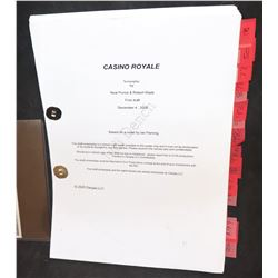 BOND JAMES 007 CASINO ROYALE JUDI DENCH PERSONAL SCRIPT WITH NOTES