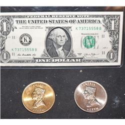 COMING TO AMERICA SCREEN USED COINS SET OF METAL